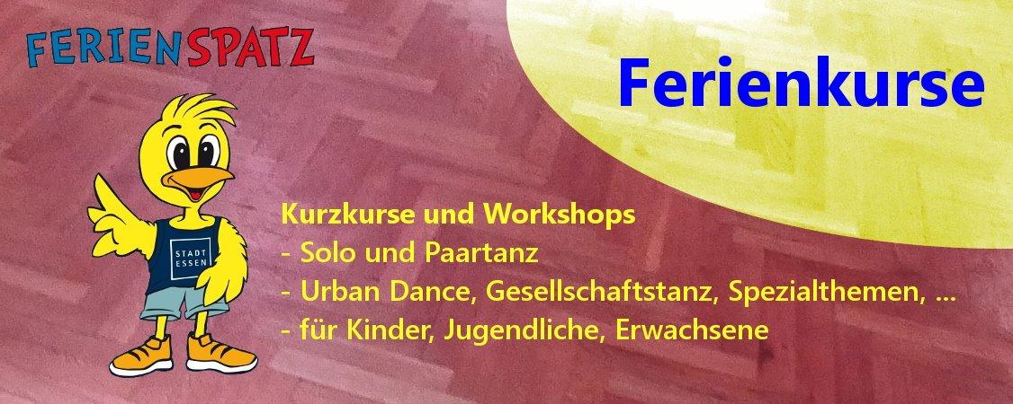 Ferienkurse für diverse Tanzstile und alle Altersgruppen
